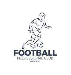 Football professional club since 2010 badge vector