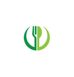 fork and spoon restaurant logo vector image