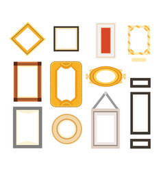 frame gallery set collection rectangular vector image