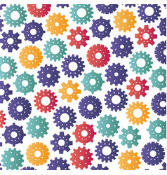 gears machinery pattern background vector image