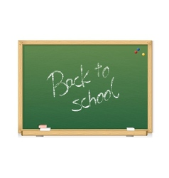 Green chalkboard Back to school vector