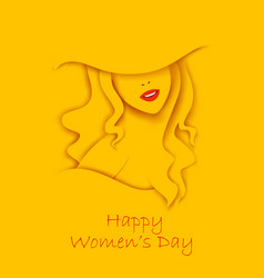 happy international women s day 8th march vector image