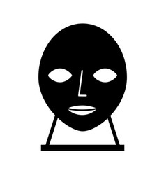 Head sculpture museum icon vector