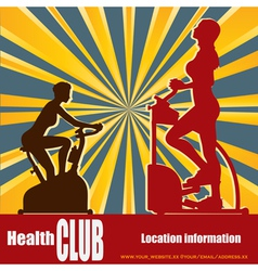 health club vector image