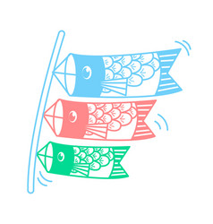 Icon of kites in the form of fish vector
