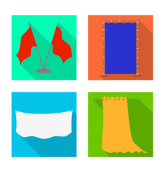 Isolated object fabric and white icon set of vector