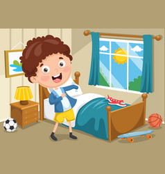Kid wearing clothes vector