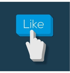 Like us Button with Hand Shaped Cursor vector image