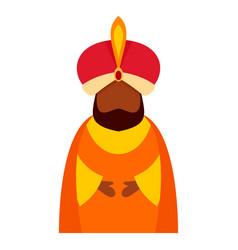 Magic king epiphany icon flat style vector