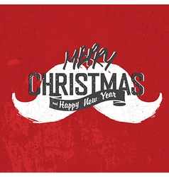 Merry Christmas Vintage Lettering with Santas vector image