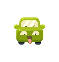 NAughty Green Car Emoji vector
