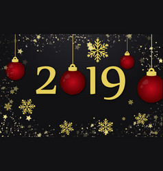 new year 2019 and merry christmas holiday vector image