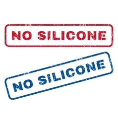 No Silicone Rubber Stamps vector