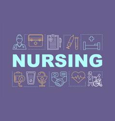 Nursing word concepts banner vector