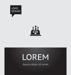 Of amour symbol on pastry icon vector