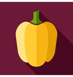 Pepper flat icon with long shadow vector image