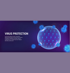 protection virus round sphere bubble shield vector image