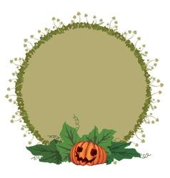 pumpkin and toadstools vector image vector image