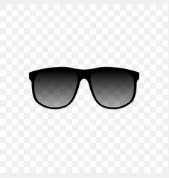 realistic sunglasses with a translucent black vector image