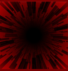 red burst ray black hole dark stripe vector image