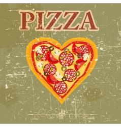 Retro Pizza Menu Template vector image