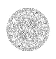 round mehndi mandala with butterflies vector image