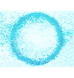 Round Square Pixel Mosaic Banner Abstract Lights vector