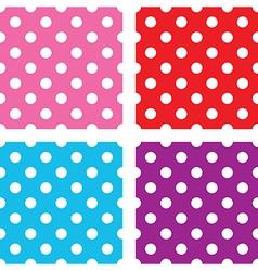 seamless polka dots sets vector image