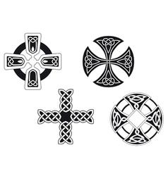 Set celtic crosses vector
