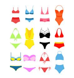 set of women s bikini for vector image