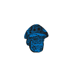 smile gorilla icon logo vector image