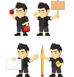 Spiky Rocker Boy Customizable Mascot 4 vector image