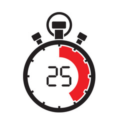 stopwatch twenty five minute vector image