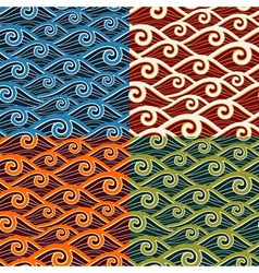 Swirly wave pattern vector