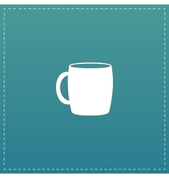 Tea cup flat icon vector