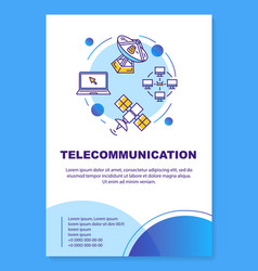 Telecommunication industry poster template layout vector