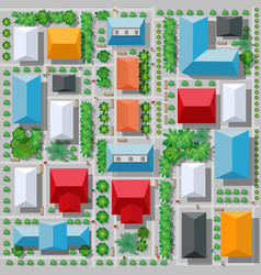 top view from above vector image