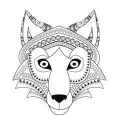 Tribal wolf icon vector