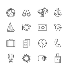 Vacation leisure pictograms set vector image