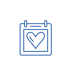 valentines day line icon concept valentines day vector image