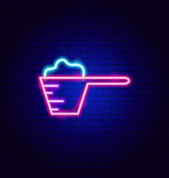 Washing powder neon sign vector