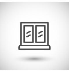 Window line icon vector