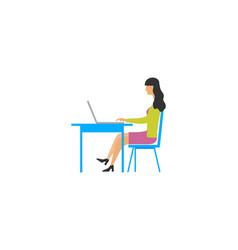 women business work character logo vector image