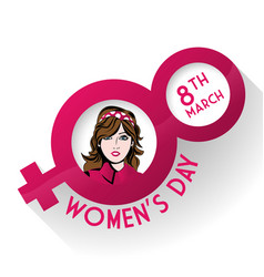 Womens day sex female symbol vector