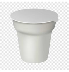 Yogurt box mockup realistic style vector