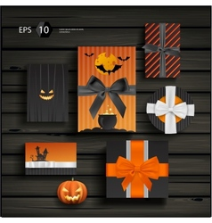 Halloween gifts vector image vector image