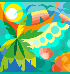 summer time party poster vector image