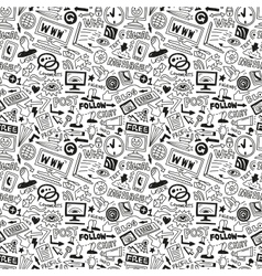 Web - seamless background vector image vector image