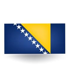Bosnia And Herzegovina Flag vector image