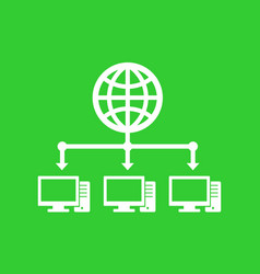 computer network and internet icon vector image vector image